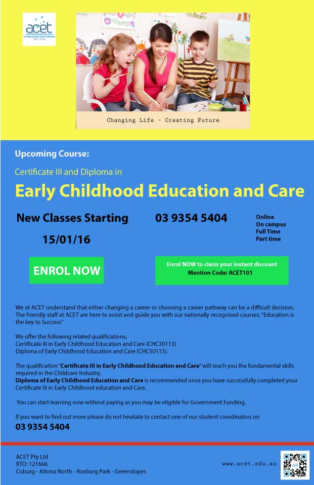 Why You Should Do Your Childcare Training Online Acet