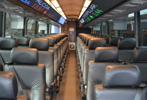 Inside, trading will occur. The new interior includes a real-time stock ticker.