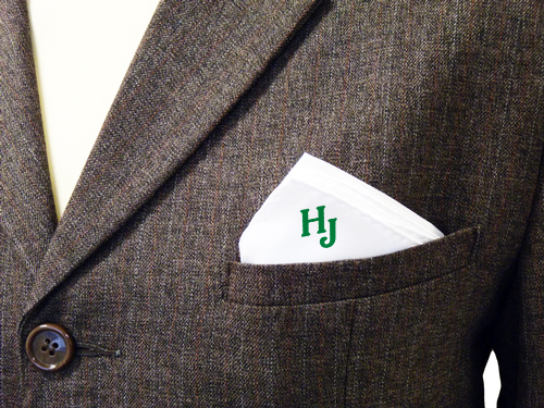 The Jitney now provides custom-monogrammed handkerchiefs,in case any of its passengers feel a bit snotty.
