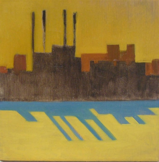"EAST RIVER BLUES: ONE, 2009, 12""X12"""