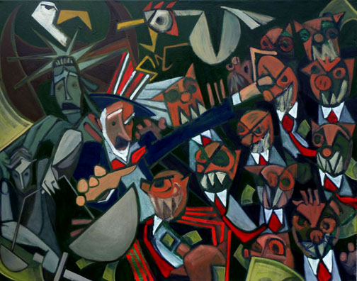 """MERGER, 2010, 48x60"""""""