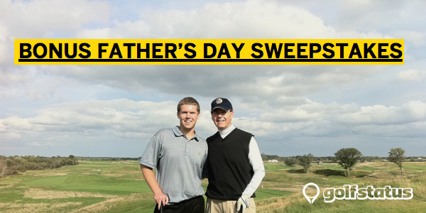 In honor of Father's Day, we've got a one-day bonus sweepstakes. Every round entered on GolfStatus at a Lincoln City golf course will get you a chance to win a FREE FOURSOME WITH CARTS to any Lincoln City golf course. This is a one-day sweepstakes only, and will be running IN ADDITION to the other great rewards you can earn on GolfStatus. We will randomly select a winner from all of the rounds logged on GolfStatus this Sunday at the Lincoln City Courses and announce the winner early Monday. Take your dad out and play – book a time now: http://lincolncitygolf.org/