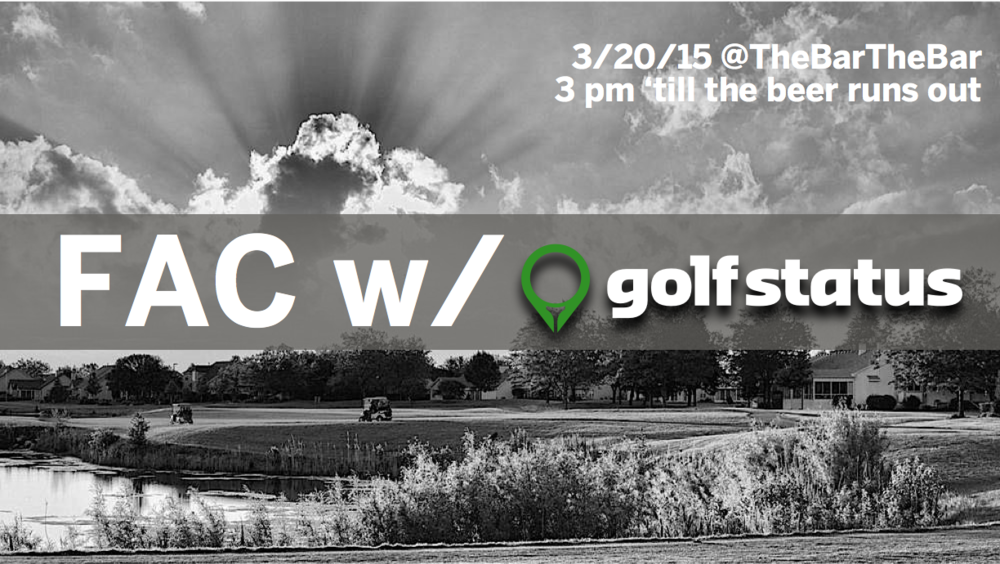 This time last year, Mother Nature decided to bless GolfStatus's hometown of Lincoln, Nebraska, with an abundant amount of snow and cold weather. But this year, there's no snow on the ground (knock on wood), and the GolfStatus app lets you earn rewards while you get back out on the golf course. This Friday, March 20, GolfStatus has decided to kick off golf season (and spring break!) at local hot spot @TheBarTheBar. GolfStatus will provide FREE BEER to anyone 21 or over who has downloaded the app, and either checked in at one of the Lincoln Courses or played a round on the app anytime this week. After you finish loosening up your swing, just come by The Bar at 17th & P Streets, to receive a bracelet for free beer. GolfStatus will also be raffling off prizes to anyone who tweets or posts on social media about GolfStatus. Don't miss this chance to enjoy the first day of spring break with FREE prizes and FREE beer!