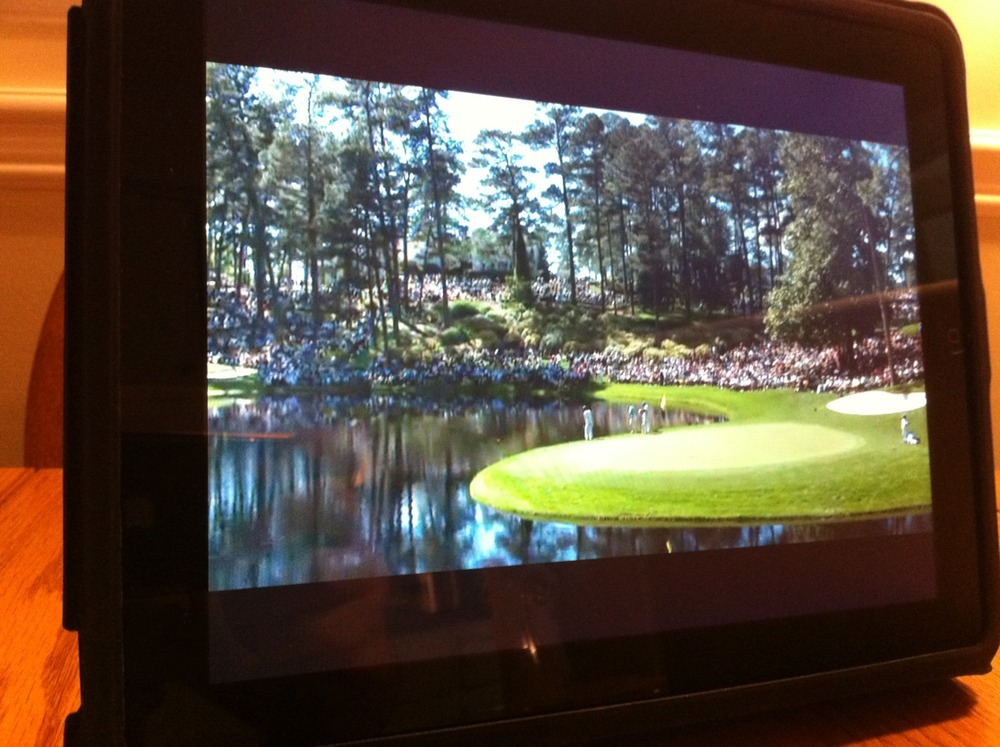 thetickr: The Masters Par-3 contest on the iPad. What would Sam Snead think?