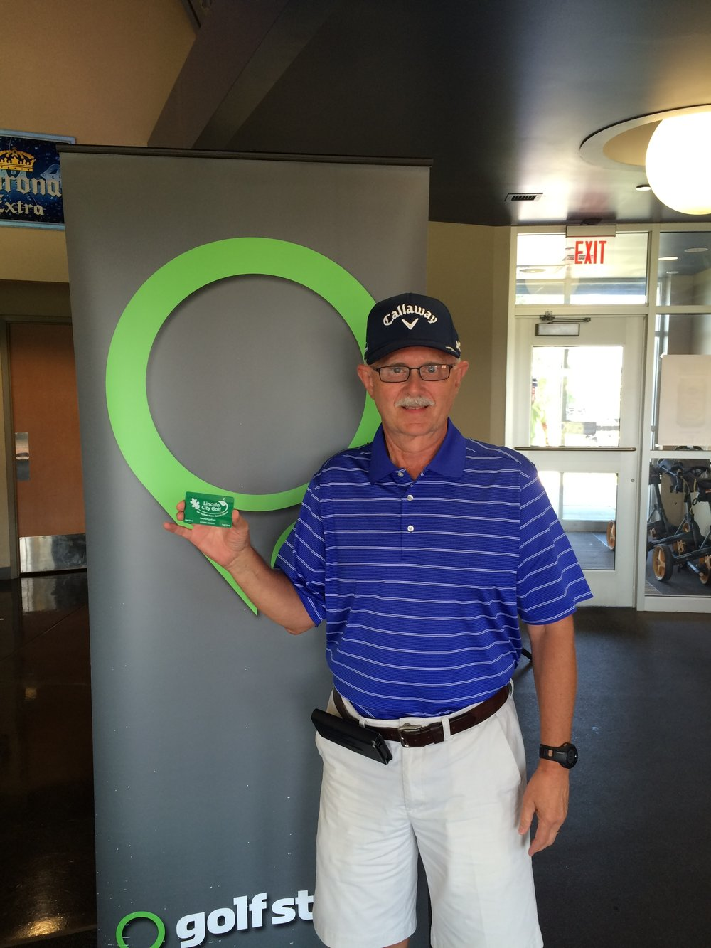 Mike Miller - Winner of LNK City Golf's July Monthly Membership Sweepstakes.JPG