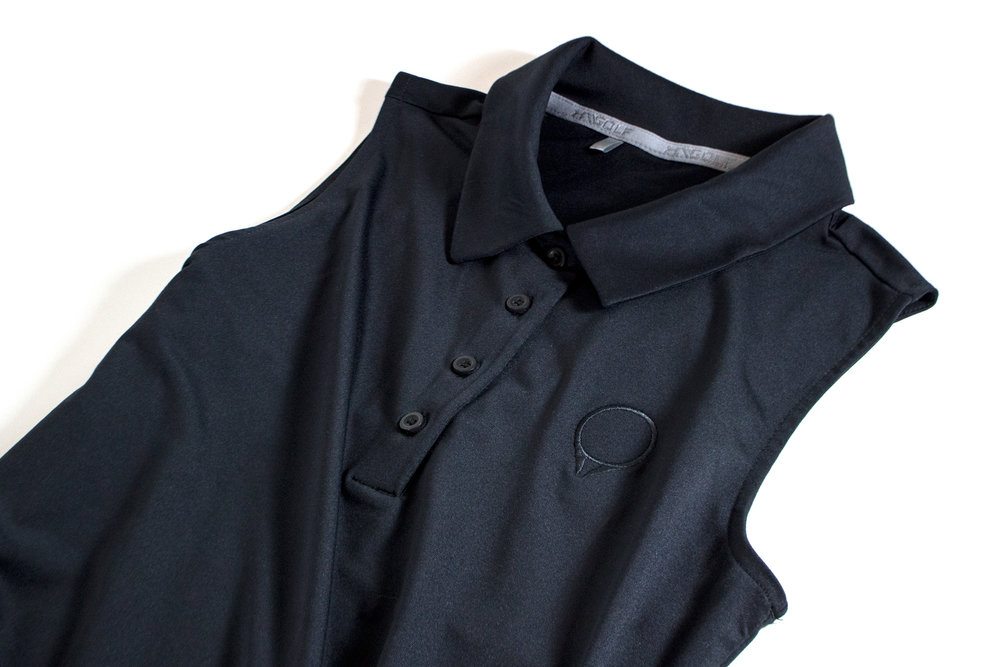 Ladies GolfStatus polo by Under Armour  Black  |  $60