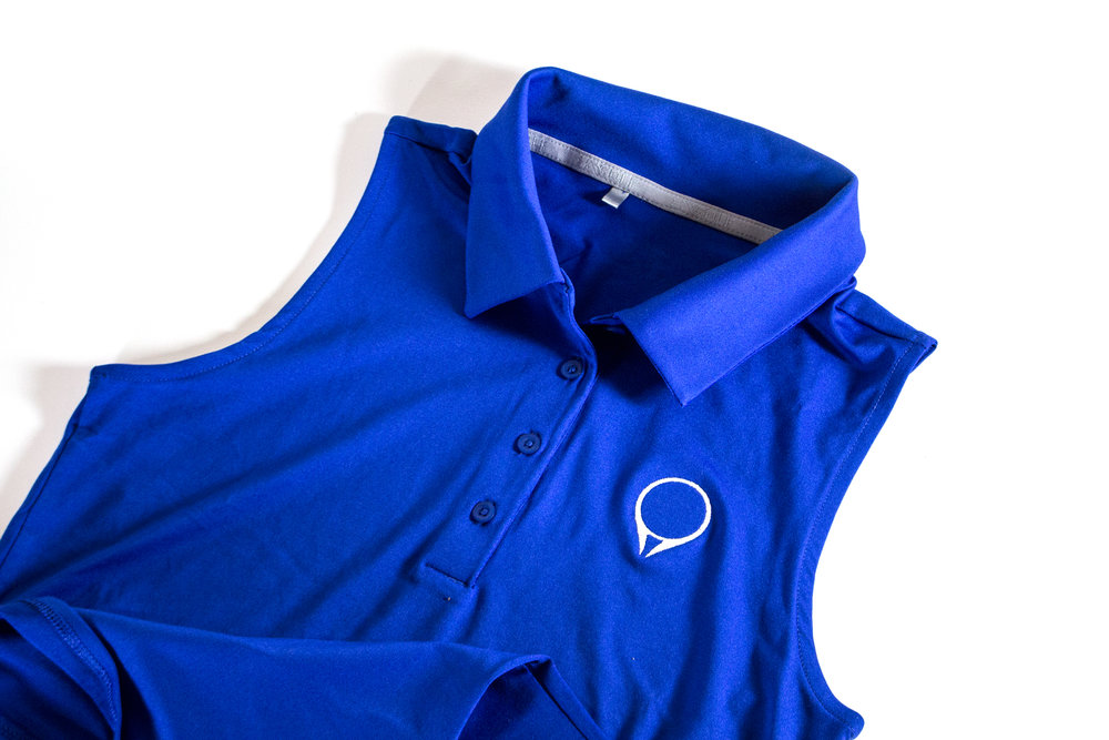 Ladies GolfStatus polo by Under Armour  Blue  |  $60
