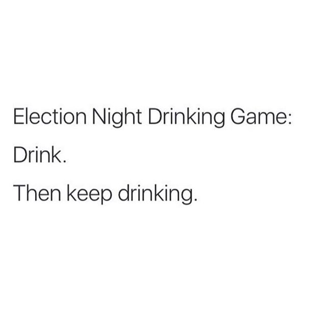 Literally me right now. Tag a friend who you're texting watching this election! #election #blogbossbabe