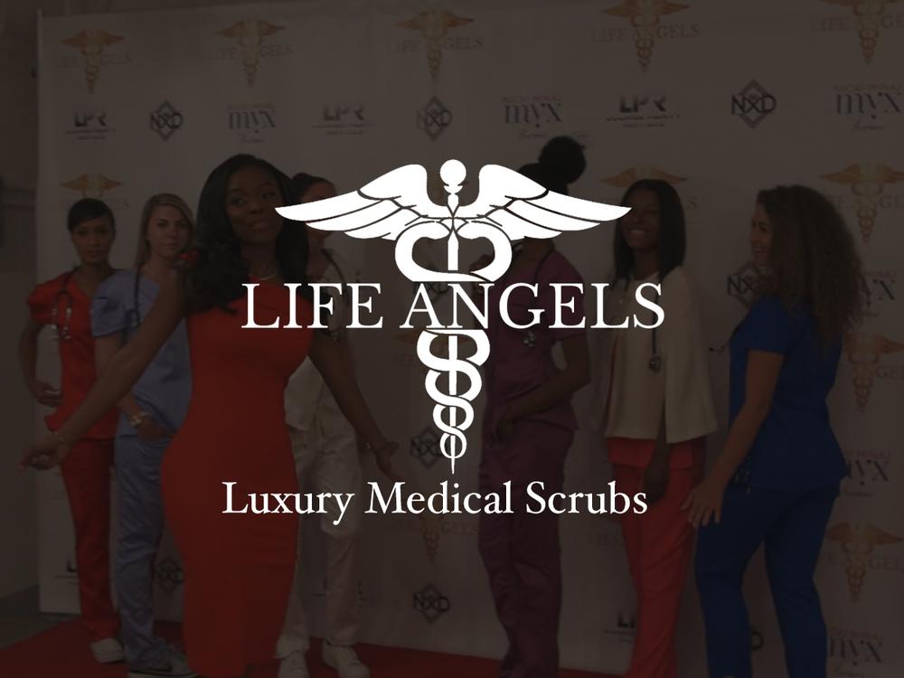 Life Angeles - Luxury Medical Scrubs Logo Mark Design | Brand Development Assistance