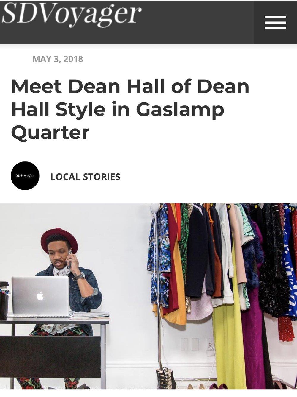 Meet Fashion Stylist Dean Hall -