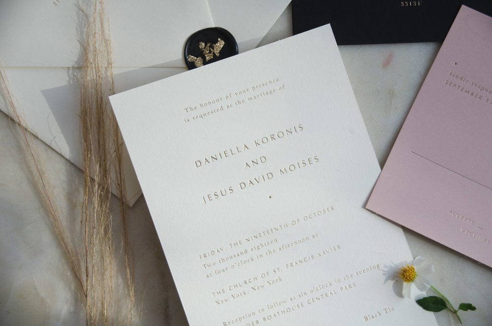 The Framework Events - Papel & Co Semi Custom Wedding Invitation