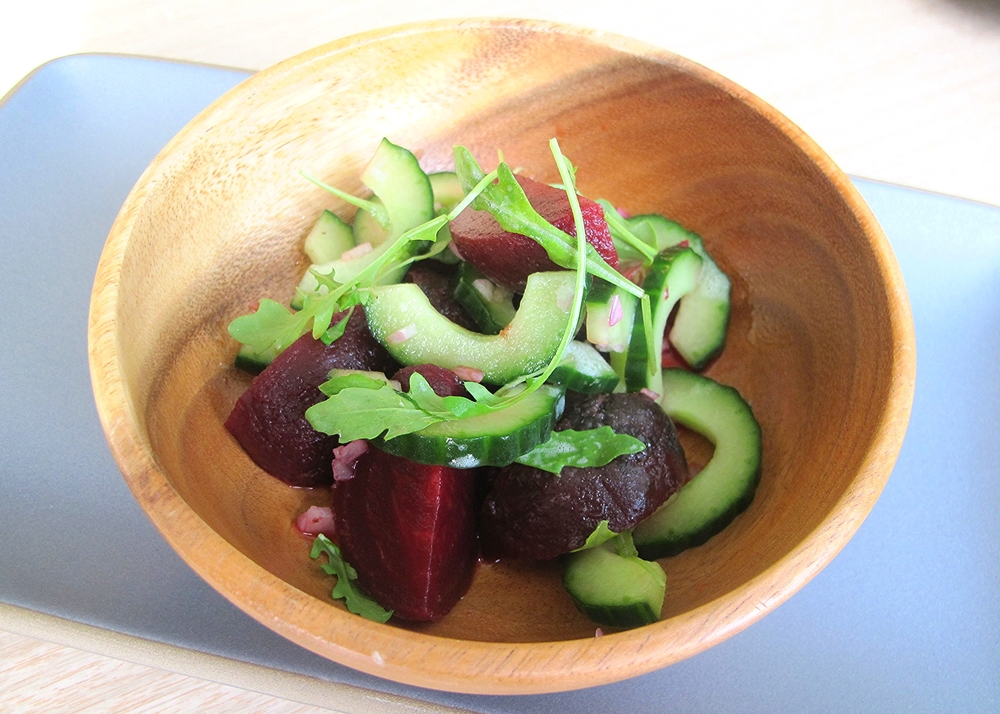 beet and cucumber salad