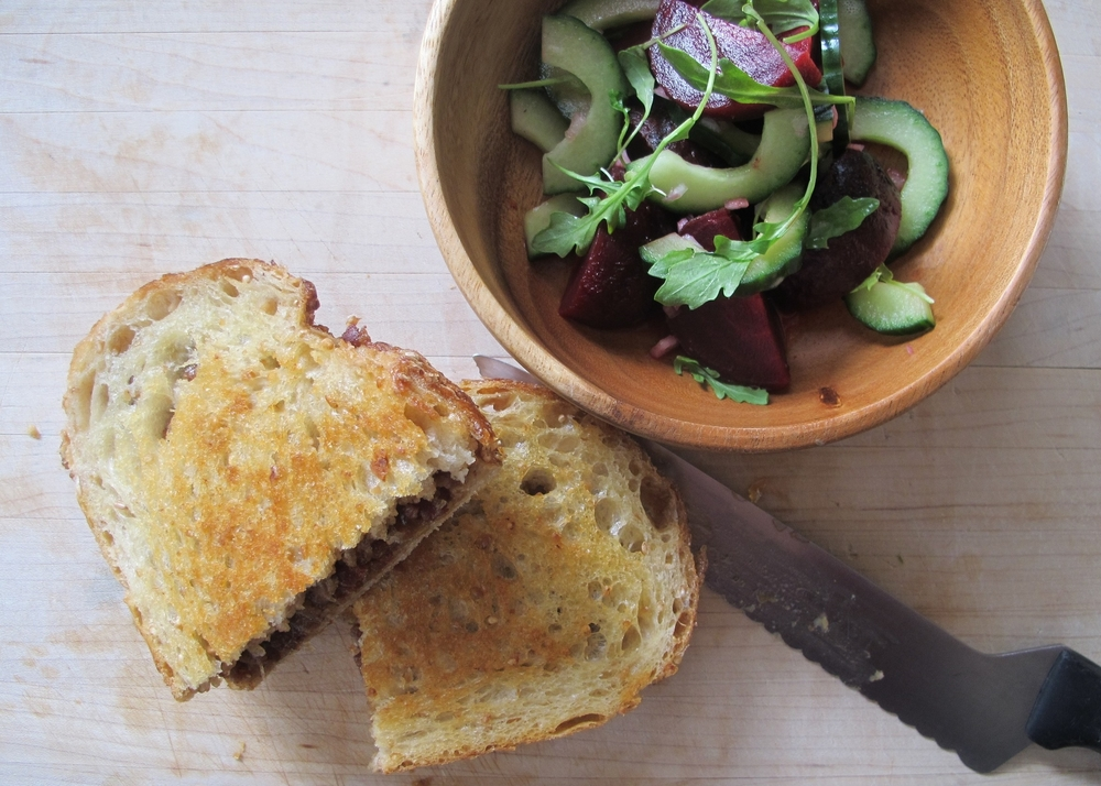 bacon jam and roasted jalapeno grilled cheese