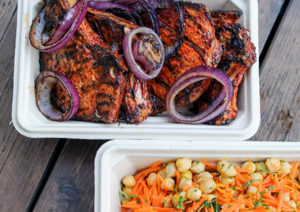 harissa grilled pork loin chops