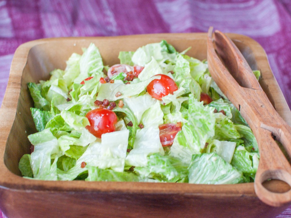 pancetta caesar salad