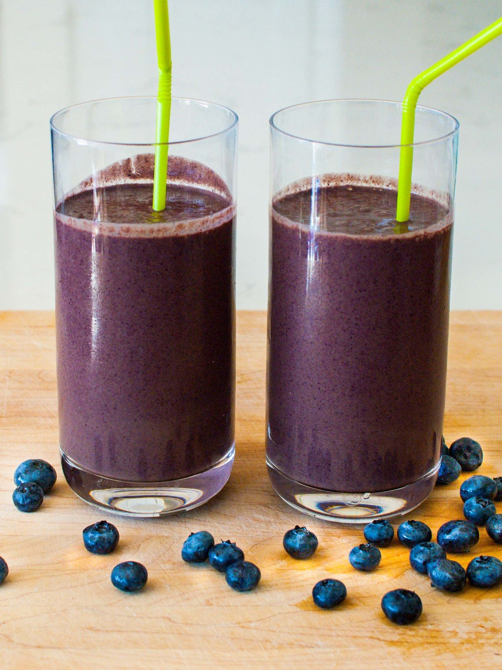 Purple Rain Smoothie - blueberry, banana, and cacao