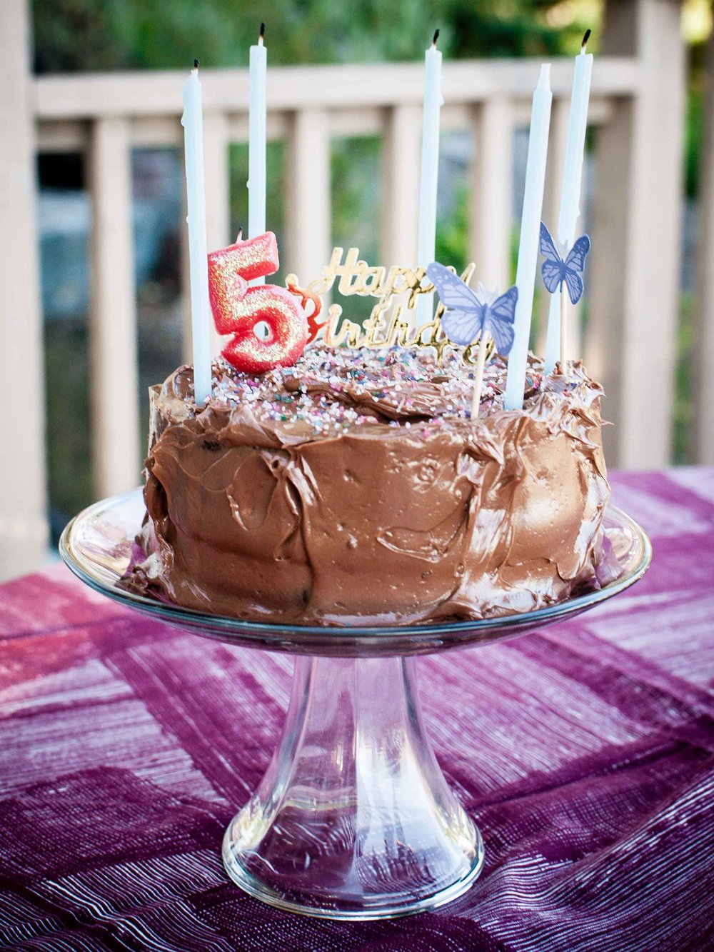 Chocolate Birthday Cake with Chocolate Buttercream Frosting