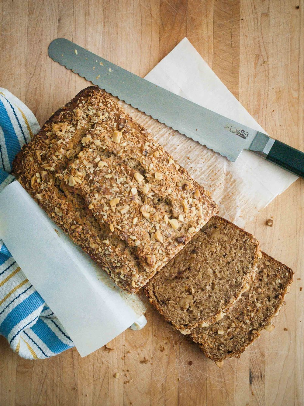 Coconut Bourbon Banana Bread