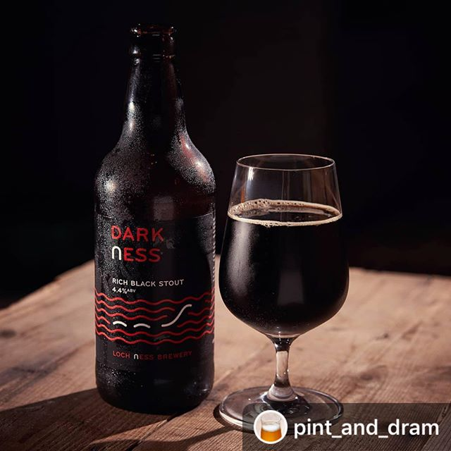 #Repost @pint_and_dram  Our Rich Black Stout #Darkness is a #lochnessbrewery favourite  #craftbeer #beer #bier #cerveza #stout #lochness #camra #lochnessbrewery