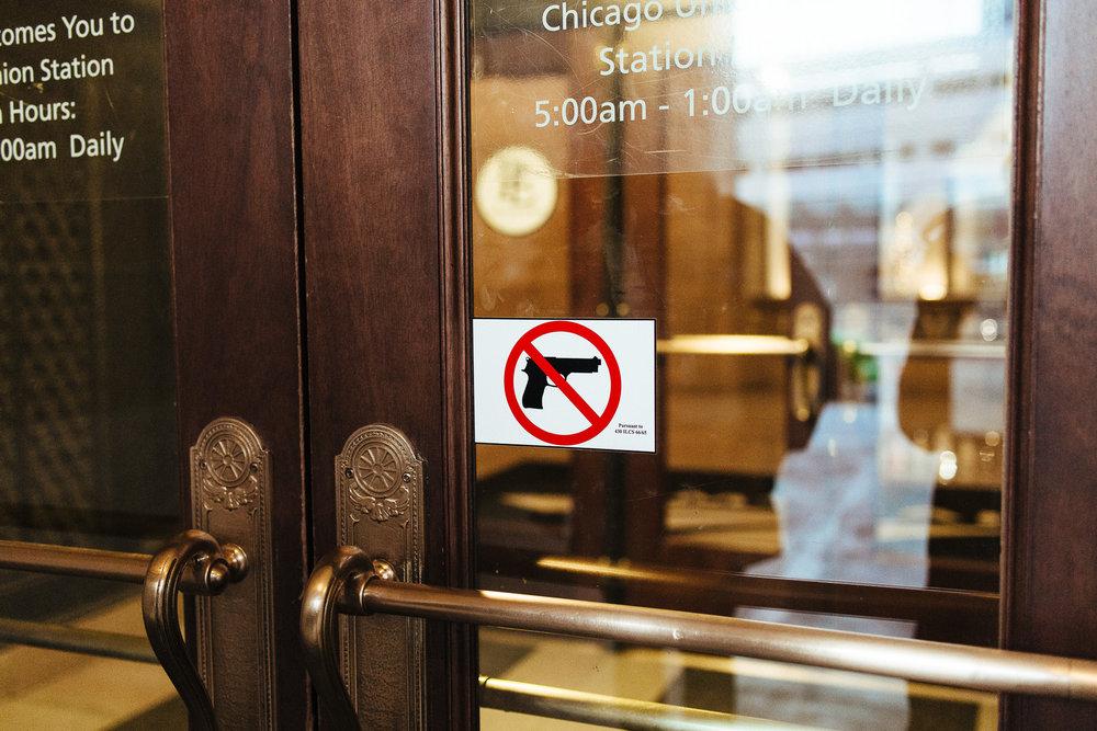 A gun-free-zone in Chicago, IL.