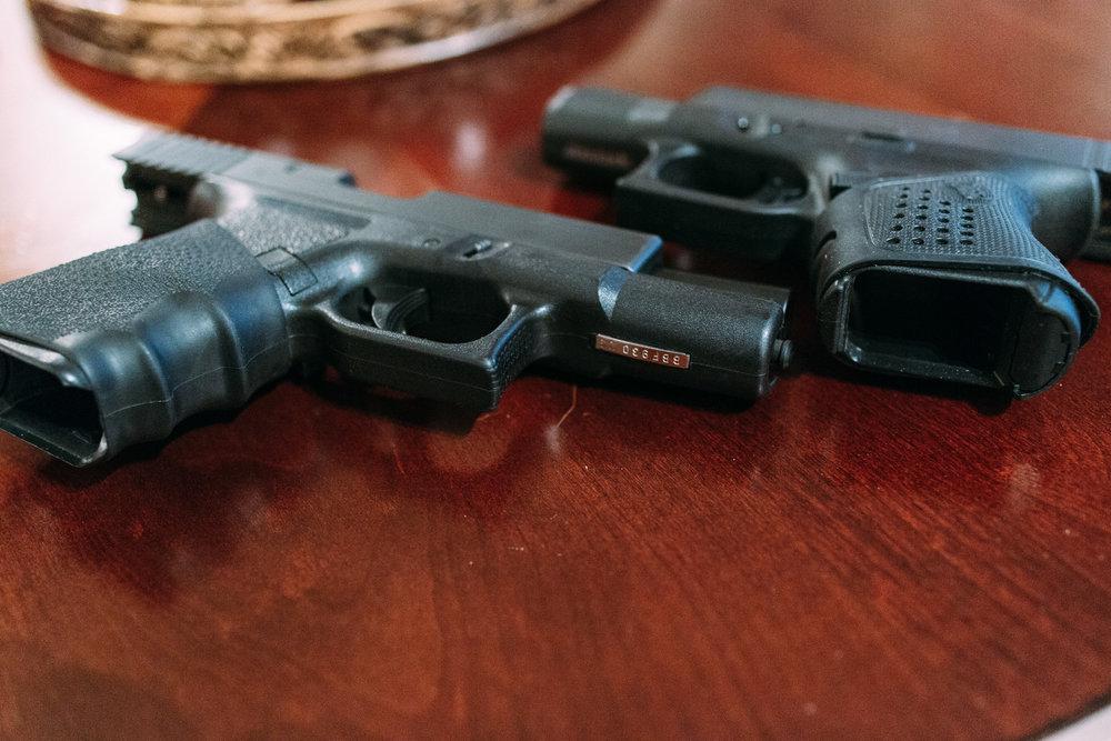 Cabrez's Glocks.