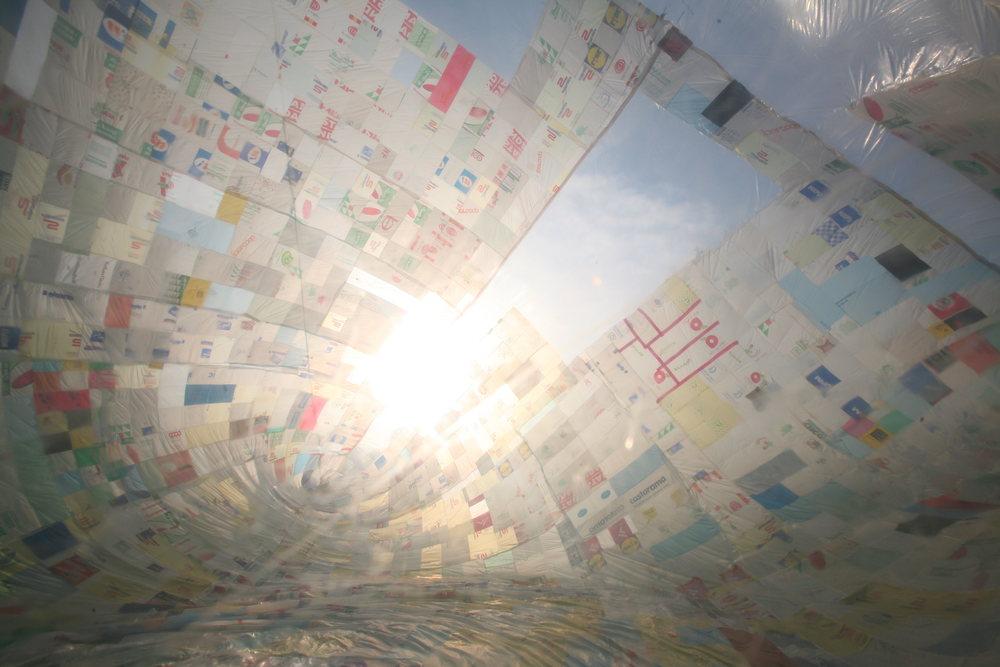 Museo Aero Solar in Milan, Italy, 2007. Photographed by Studio Tomás Saraceno, © Museo Aero Solar, 2007.