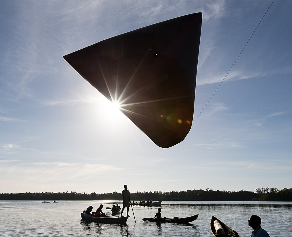 Tomás Saraceno     AEROCENE Test #1.     From the oceanographic expedition to Solomon Islands         upon the invitation of TBA21 Academy.     ©Tomás Saraceno