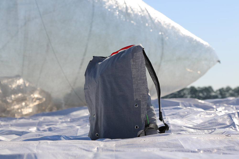 All the components of the Aerocene Explorer are contained in one backpack for easy portability.