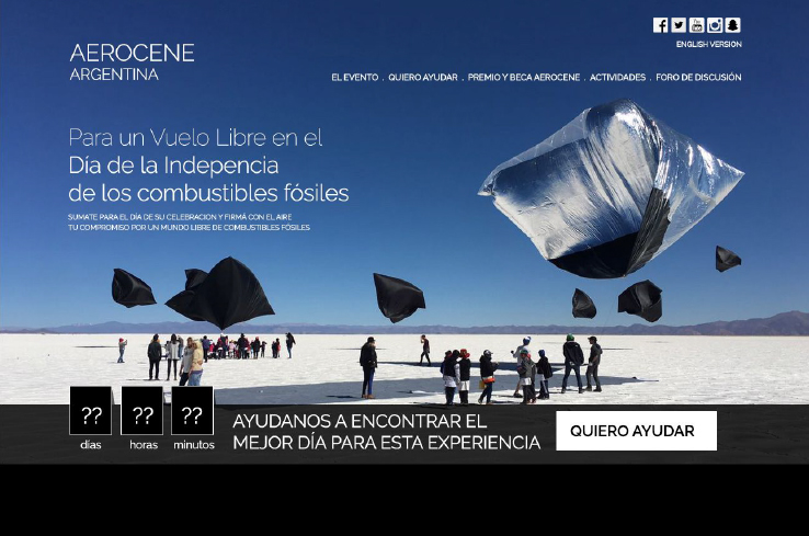 Aerocene Argentina website under construction coming soon