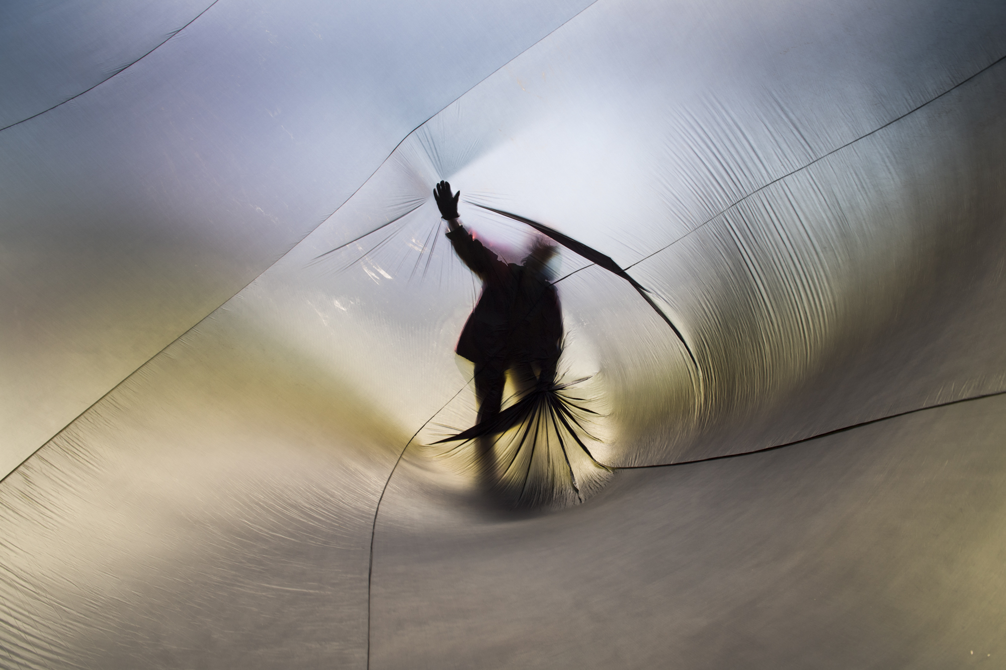 An Aerocene sculpture seen from the inside