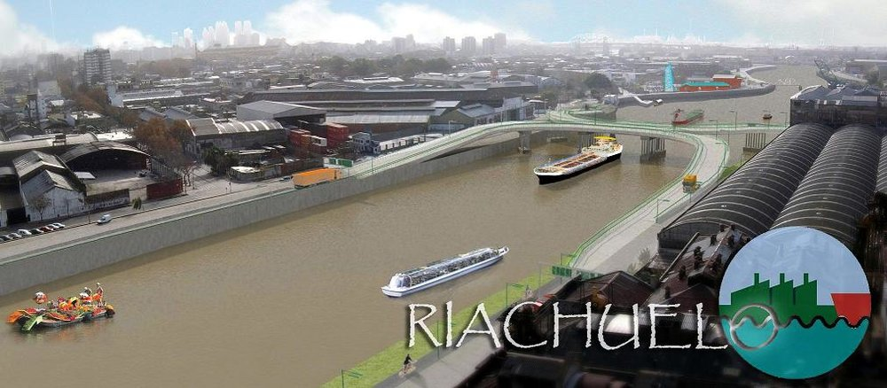 Navigable and productive waterways, architects Gustavo Cañaveral and Adolfo Rossi vision for the Matanza-Riachuelo river basin.