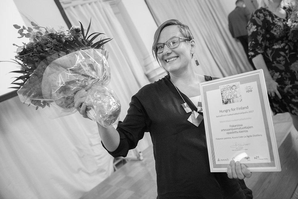 Susanna Kankare vastaanotti voiton Helsingin Kaupungintalolla 6.9.