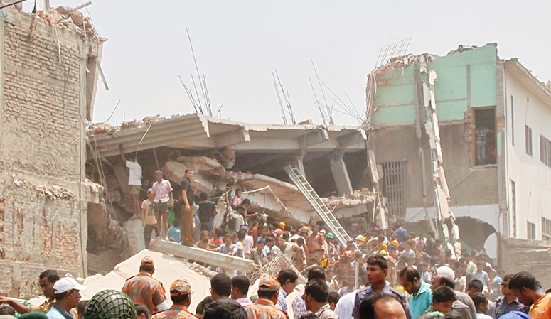 Rana Plaza Factory Collapse. Source: BDNews24