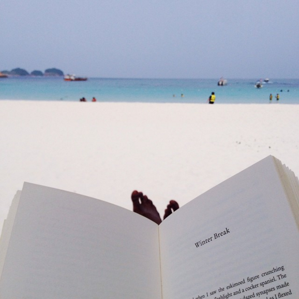 Reading in Redang, Malaysia over the break.