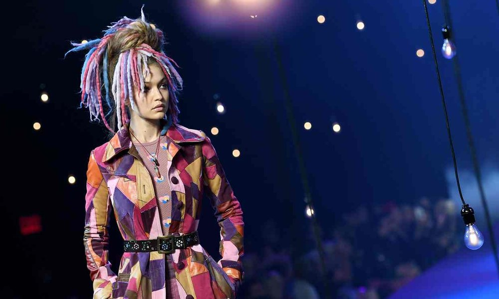 Gigi Hadid at the Marc Jacobs show during New York fashion week. Photograph: Angela Weiss/AFP/Getty