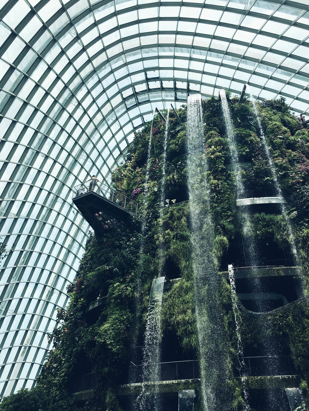 the waterfall in the cloud dome