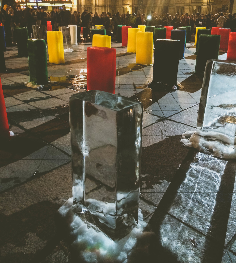 Nuit Blanche 2015: Melting ice installation at Hotel de Ville