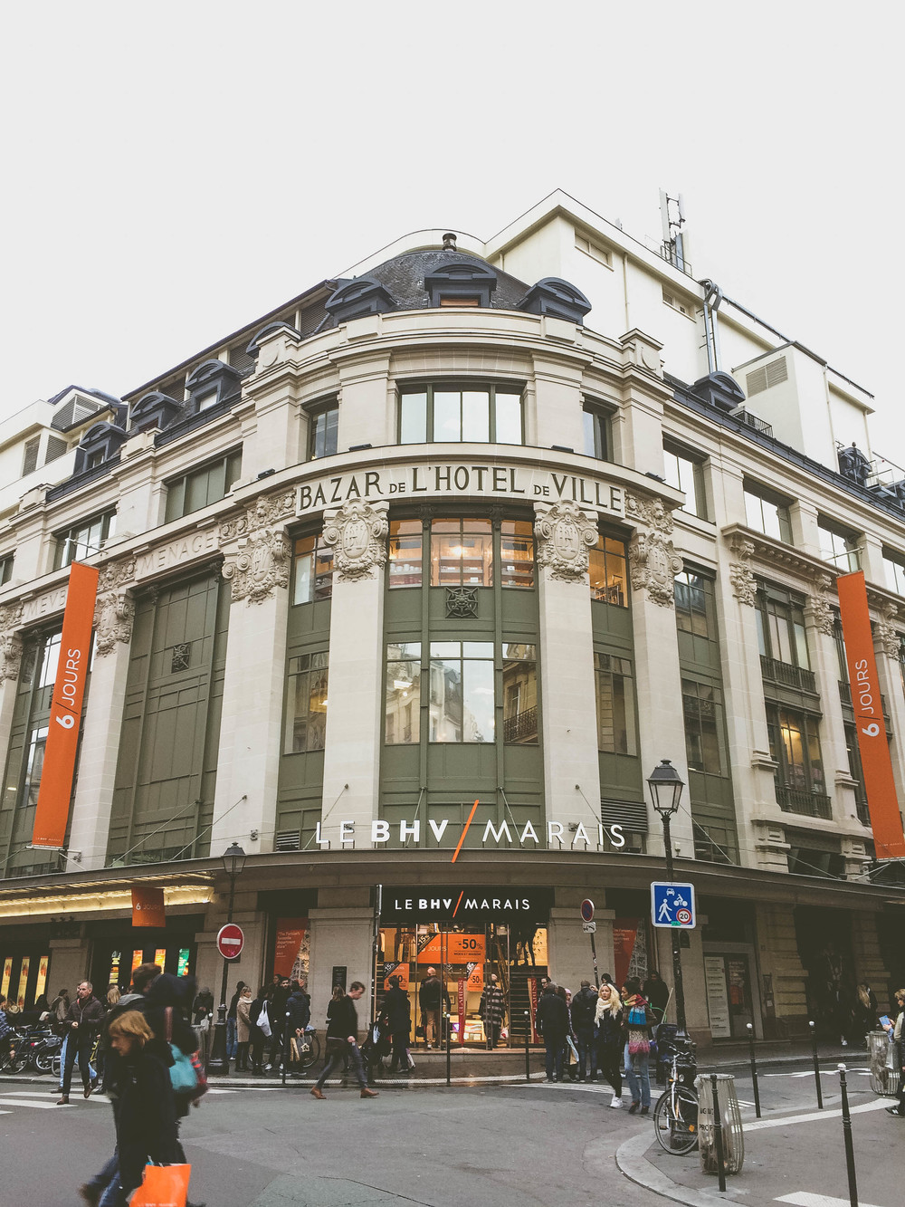Le BHV: a giant department store with every department you can imagine.