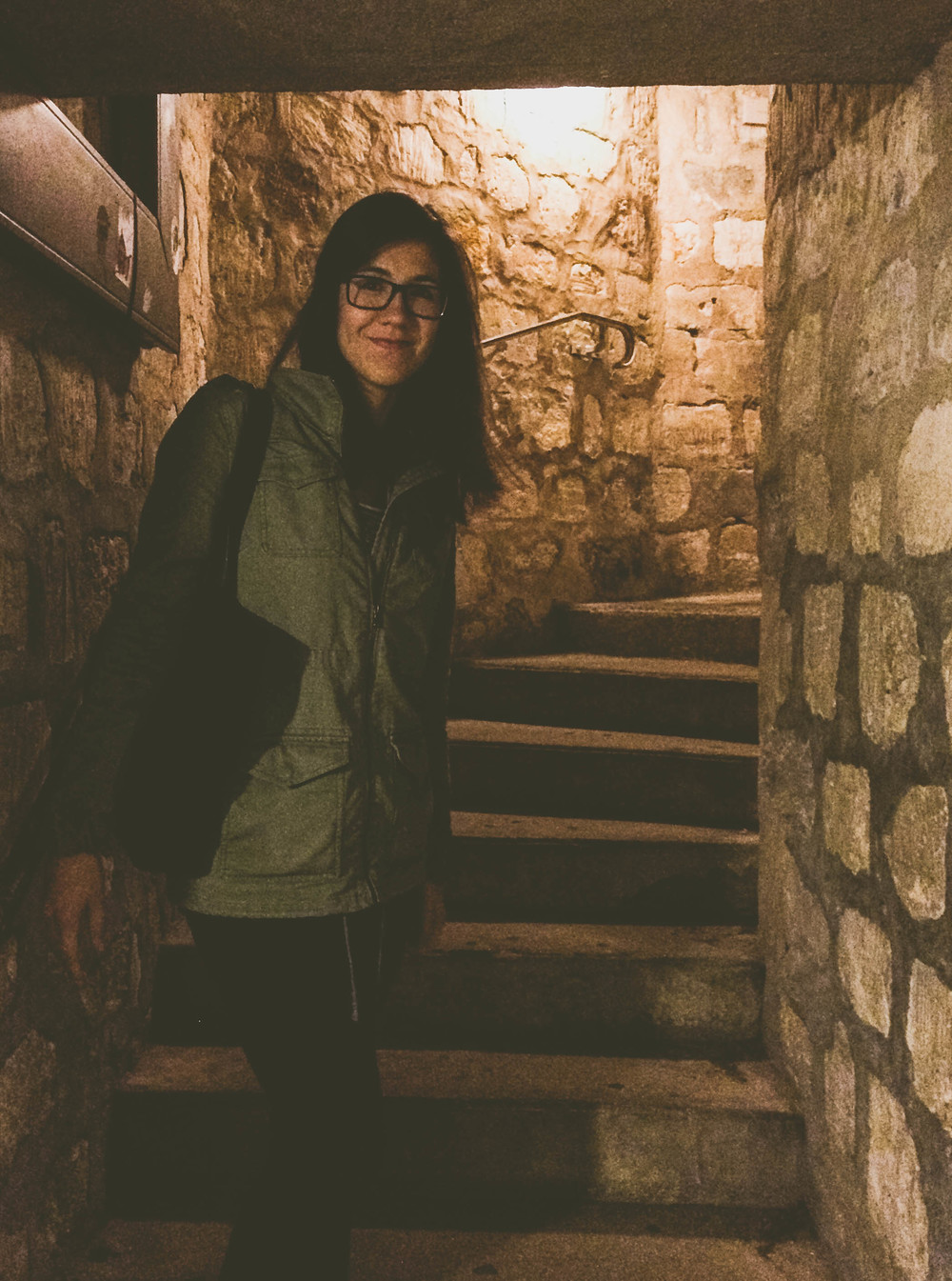Me (Whitney) heading into the catacombs after the initial descent.