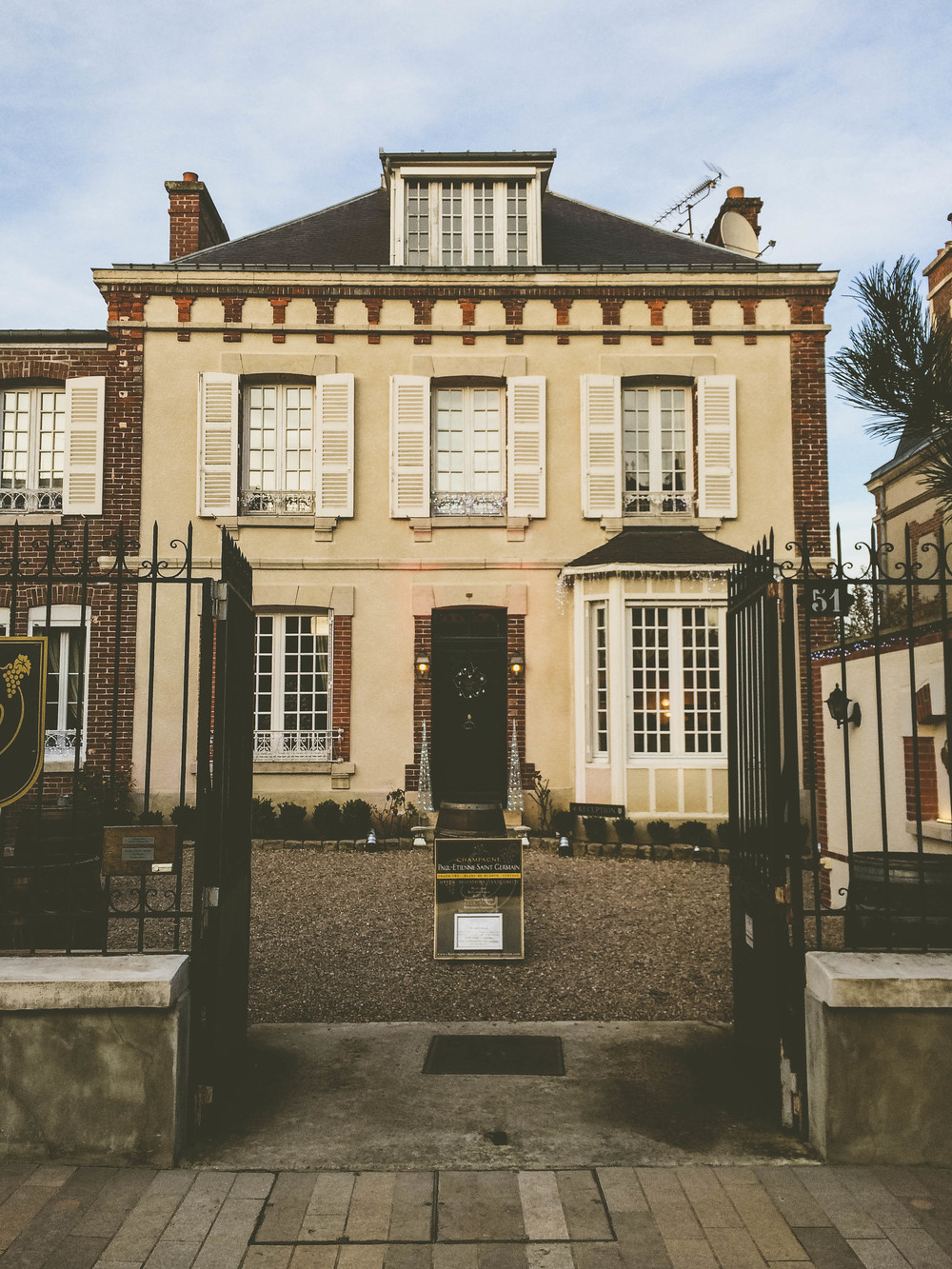 The House of Paul-Etienne Saint Germain Champagne, go inside for a tasting.