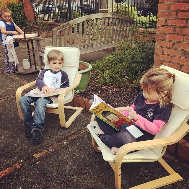 Our Early Childhood class enjoyed this beautiful day in the memory garden. #montessorischool #practicallifeskills #montessorikids #beautifulday #ourkidsarethebest #hartsvillesc