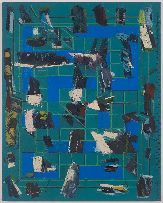 floorplay , 2016 oil on canvas 40 x 32 in