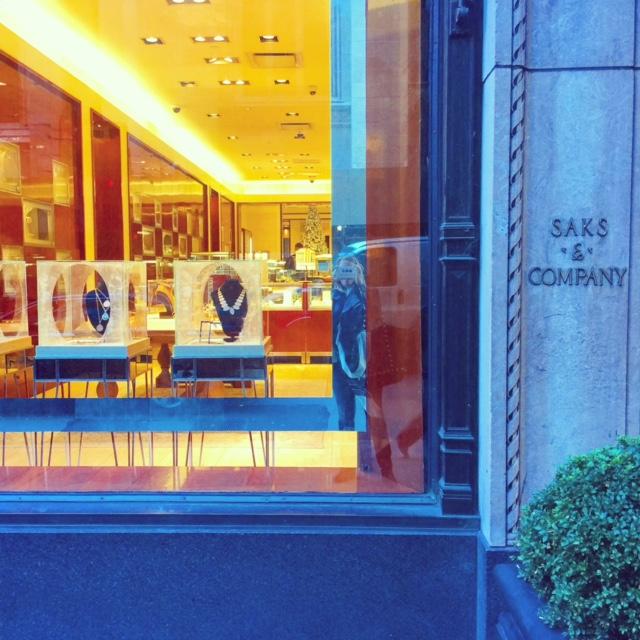 Devon Woodhill, Saks Fifth Avenue, December 2015