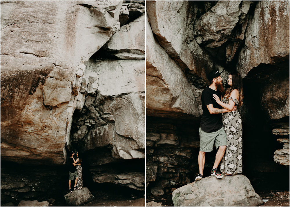 Cloudland canyon, whaterfall georgia, couples waterfall engagement 11.jpg