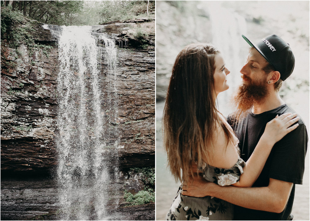 Cloudland canyon, whaterfall georgia, couples waterfall engagement 18.jpg