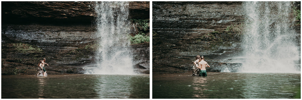 Cloudland canyon, whaterfall georgia, couples waterfall engagement 28.jpg