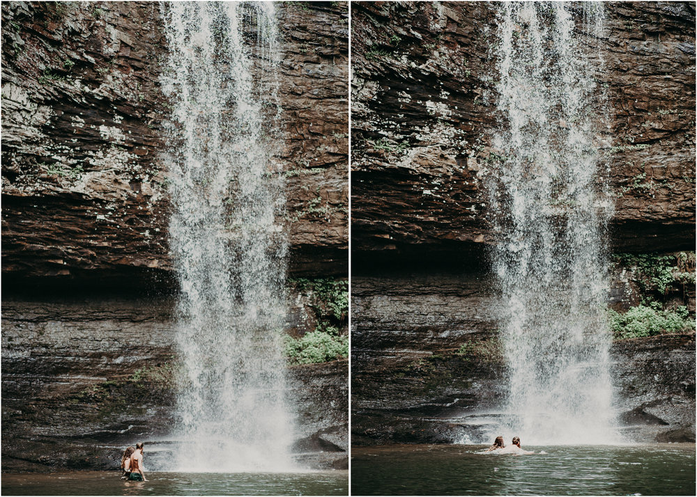 Cloudland canyon, whaterfall georgia, couples waterfall engagement 29.jpg
