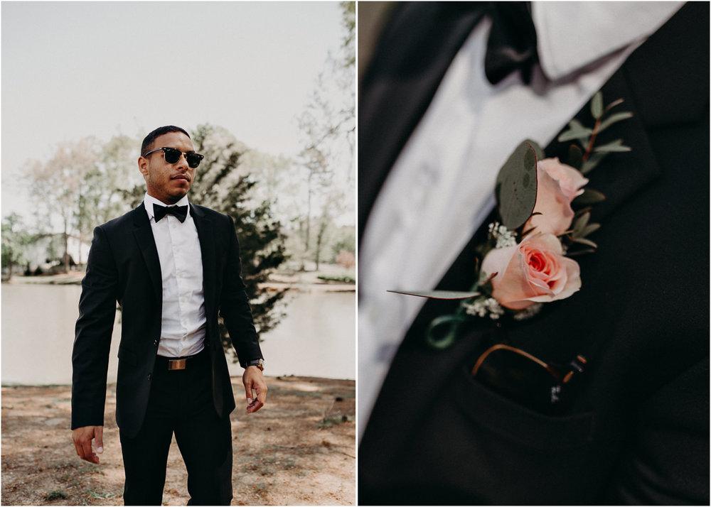 10 - Little River Farms - first look - Atlanta - Wedding Venue - Atlanta Wedding Photographer - Georgia weddings details wedding dress shoes gather groom bridal party .jpg