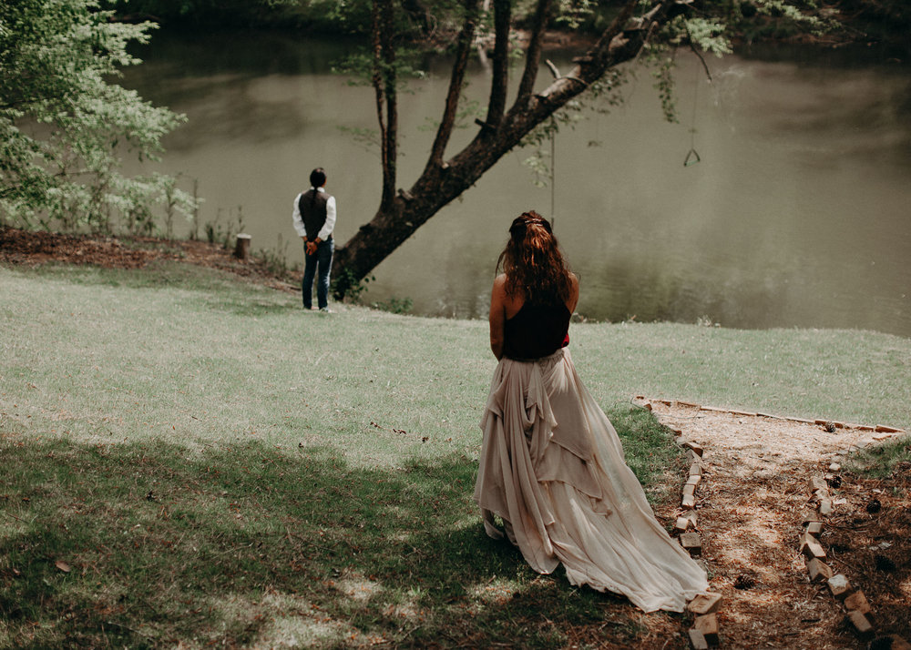 43  - Forest wedding boho enchanched fairytale wedding atlanta - ga , intimate, elopement, nature, greens, good vibes. Aline Marin Photography .jpg