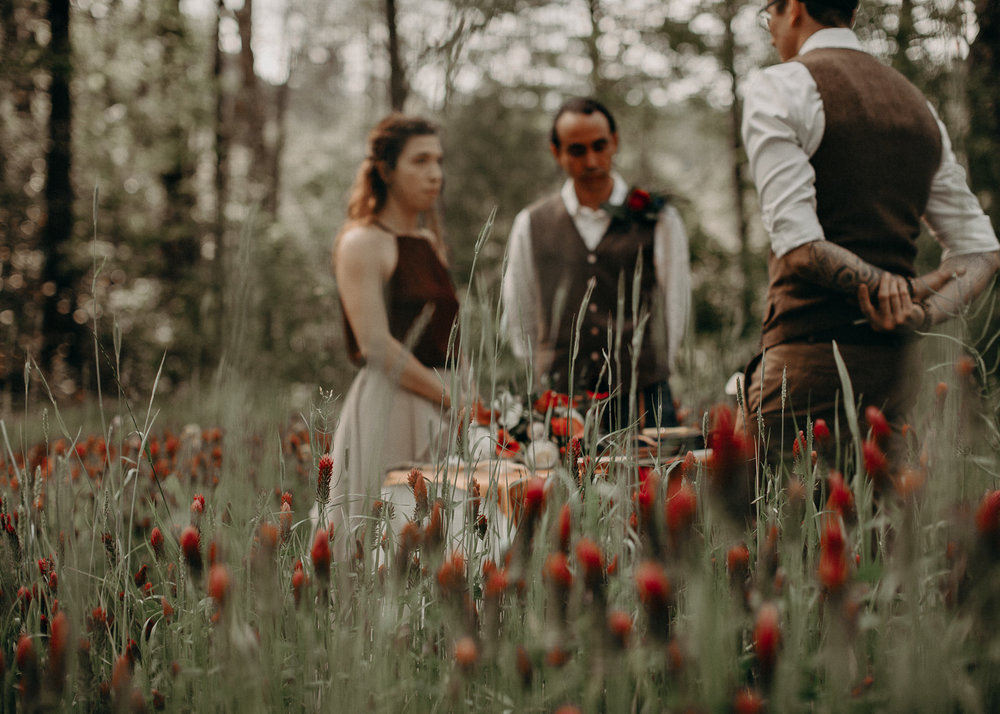 60- Forest wedding boho enchanched fairytale wedding atlanta - ga , intimate, elopement, nature, greens, good vibes. Aline Marin Photography .jpg